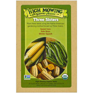 3 PACK OF High Mowing Organic Seeds, Three Sisters, Organic Seed Collection, Variety Pack, 3 Packets