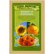 3 PACK OF High Mowing Organic Seeds, Summer of Sunflowers, Organic Seed Collection, Variety Pack, 3 Packets