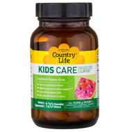 Country Life, Kids Care Digestive Support, Watermelon, 120 Chewable Wafers