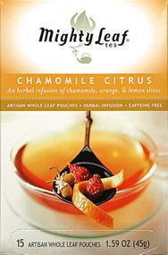 Mighty Leaf, Whole Leaf Tea Pouches,  Chamomile Citrus - 15 Tea Bags