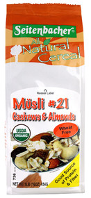 Seitenbacher, All Natural Cereal Musli #21,  Cashew and Apricots - 1 lb