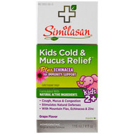 3 PACK OF Similasan, Kids Cold & Mucus Relief, with Echinacea, Grape, 4 fl oz (118 ml)