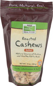 NOW Foods, Real Food Roasted Cashews Salted - 10 oz