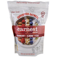 3 PACK of Earnest Eats, Superfood Oatmeal, Cranberry + Almond + Flax, 12.6 oz (357 g)