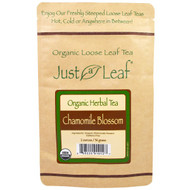 5 PACK of Just a Leaf Organic Tea, Chamomile Blossom, Loose Leaf Tea, Organic Whole Chamomile Flowers, 100% Pure, No GMOs, 2 oz (56 g)