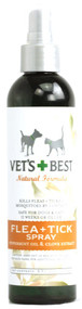 Vets Best, Flea and Tick Spray for Dogs and Cats - 8 fl oz