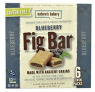 Natures Bakery Gluten Free Fig Bar Blueberry - 6 Twin Packs (5 PACK)
