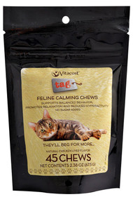 3 PACK of Vitaco - Tag Feline Calming Chews - Chicken Liver Flavor -- 45 Chewables