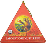 Badger Company, Sore Muscle Rub Ornament, Original Blend, Cayenne & Ginger, .75 oz