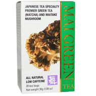 3 PACK of Mushroom Wisdom, Mai Green Tea, 20 Tea Bags, 1.08 oz (30 g)