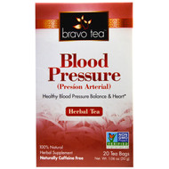 Bravo Teas & Herbs, Blood Pressure, Herbal Tea, Caffeine Free, 20 Tea Bags, 1.06 oz (30 g)