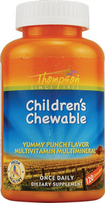 Thompson Children's Chewable Multivitamin Punch - 120 Chewables
