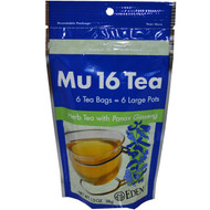 3 PACK of Eden Foods, Mu 16 Tea, with Panax Ginseng, 6 Tea Bags, 1.3 oz (38 g)