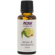 3 PACK of Now Foods, Essential Oils, Lemon & Eucalyptus Blend, 1 fl oz (30 ml)