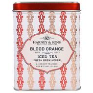 3 PACK of Harney & Sons, Blood Orange Iced Tea, 6 - 2 Quart Tea Bags, 3 oz (0.11 g)