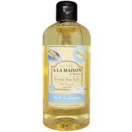 A La Maison de Provence, Bath and Shower Liquid Soap, Fresh Sea Salt, 16.9 fl oz (500 ml)