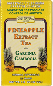 3 PACK of Only Natural Pineapple Extract Tea with Garcinia Cambogia -- 20 Tea Bags