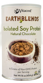 Vitaco, - Earth Blends Isolate Soy Protein Powder,  Chocolate - 1 lb (454 g)
