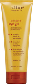 Alba, Botanica Style Hair Gel Strong Hold Fragrance Free - 7 oz
