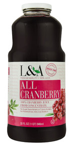 L & A Juice, All Cranberry - 32 fl oz