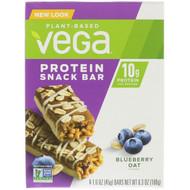 3 PACK OF Vega, Protein Snack Bar, Blueberry Oat, 4 Bars, 1.6 oz (45 g) Each
