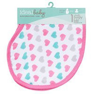 Ideal Baby By The Makers of Aden + Anais Girl Muslin Burpy Bib Pretty Sweet - 1 Cloth - 5 PACK