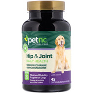 3 PACK OF petnc NATURAL CARE, Hip & Joint, Level 3, Liver Flavor, 45 Chewables