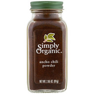 3 PACK OF Simply Organic, Organic, Ancho Chili Powder, 2.85 oz (81 g)
