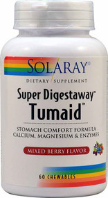 Solaray Super Digestaway Tumaid Stomach Comfort Formula Mixed Berry - 60 Chewables