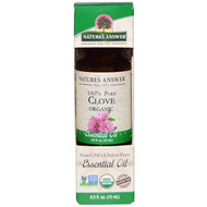 3 PACK OF Natures Answer, Organic Essential Oil, 100% Pure Clove, 0.5 fl oz (15 ml)