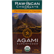 Good Superfoods, Organic, Agami Superfoods, RAW Incan Chcolate, Peppermint, Yakon, 1.75 oz (50 g)