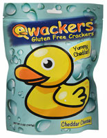 Qwackers Gluten Free Crackers Cheddar Cheese - 5 oz (5 PACK)