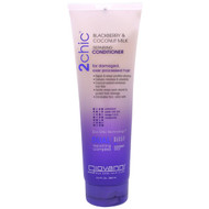 3 PACK OF Giovanni, 2chic, Repairing Conditioner, for Damaged Over Processed Hair, Blackberry & Coconut Milk, 8.5 fl oz (250 ml)