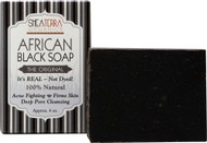3 PACK of Shea Terra Organics African Black Soap Bath Bar -- 4 oz