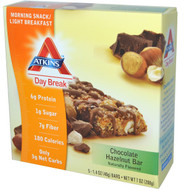 Atkins, Day Break, Morning Snack / Light BreakfastChocolate Hazelnut Bar, 5 Bars, 1.4 oz (40 g) Each