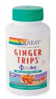 Solaray Ginger Trips Gumlet Molasses Honey - 135 mg - 30 Pieces