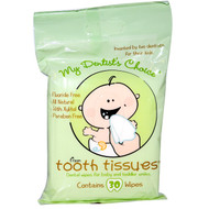 Tooth Tissues, My Dentists Choice, Dental Wipes for Baby and Toddler Smiles, 30 Wipes