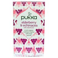 3 PACK of Pukka Herbs, Elderberry & Echinacea, 20 Fruit Tea Sachets, 1.41 oz (40 g)