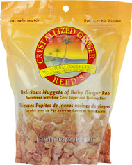 3 PACK of Reeds Crystallized Ginger Chews -- 16 oz