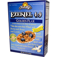 Food For Life, Ezekiel 4:9, Sprouted Whole Grain Cereal, Golden Flax, 16 oz (454 g)