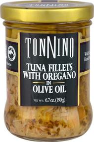 Tonnino Tuna Fillets with Oregano in Olive Oil - 6.7 oz