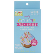 3 PACK OF ColorKitchen, Party, Colors From Nature, Blue Frosting Color & Rainbow Sprinkles, 1.33 oz (37.74 g)