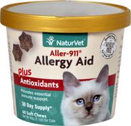 NaturVet Aller-911 Allergy Aid Plus Antioxidants for Cats - 60 Soft Chews