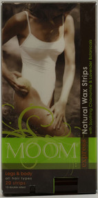 3 PACK of Moom Express Pre Wax Strips For Legs And Body -- 20 Strips