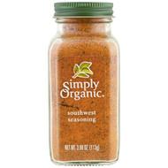 3 PACK OF Simply Organic, Organic, Southwest Seasoning, 3.98 oz (113 g)