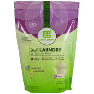 GrabGreen, 3 in 1 Laundry Detergent Pods, Lavender, 24 Loads, 15.2 oz (432 g)