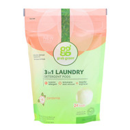3 PACK OF Grab Green, 3-in-1 Laundry Detergent Pods, Gardenia, 24 Loads, 13.5 oz (384 g)