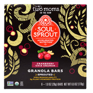 Two Moms in the Raw, Granola Bars, Cranberry Chia Crunch, 6 Bars, 1 oz (28 g) Each