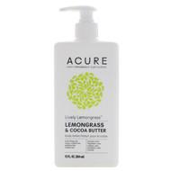 3 PACK OF Acure, Lively Lemongrass Body Lotion, Lemongrass & Cocoa Butter, 12 fl oz (354 ml)
