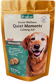 NaturVet Quiet Moments Senior Calming Aid for Dogs - 65 Soft Chews
